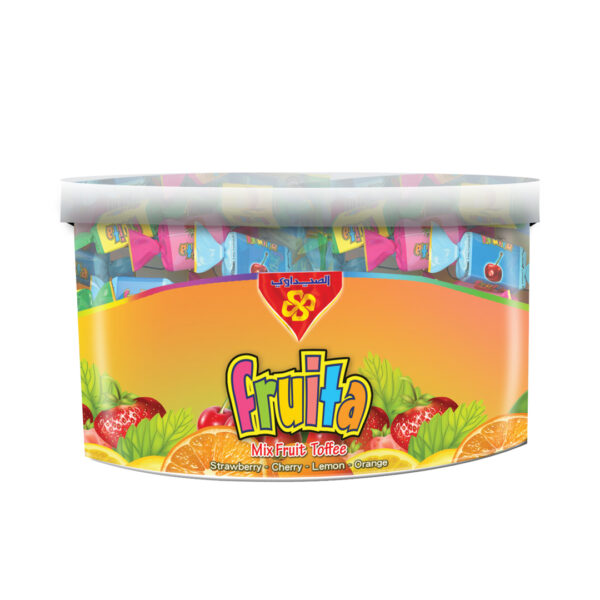 Toffee Fruita (Mix Fruit 4 Flavor Strawberry, Cherry, Orange, Lemon) - 500 gm Plastic