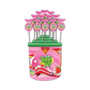 Happy Pop (Yogurt Strawberry with Gum Packet Plastic) 18 gm