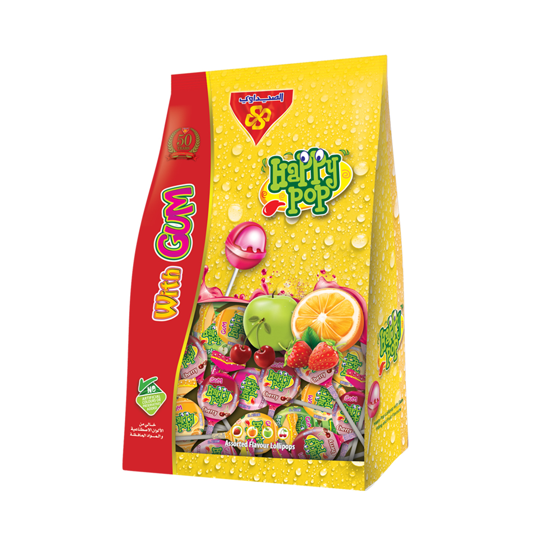 Happy Pop with Gum Stand Bag 10gm