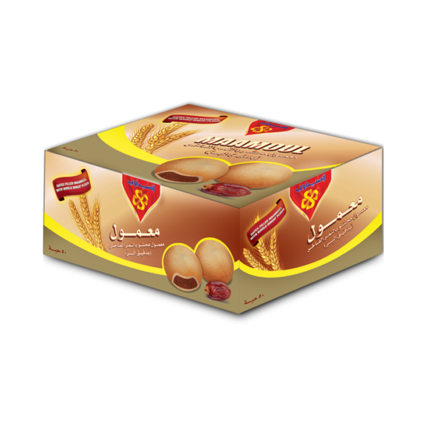 Maamoul - Wheat Flour filled with Date Packet - 50Pcs